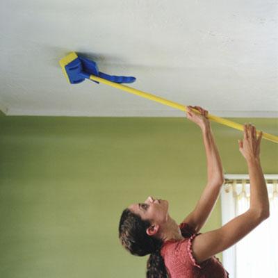 Термические и химические способы очистки поверхности потолка