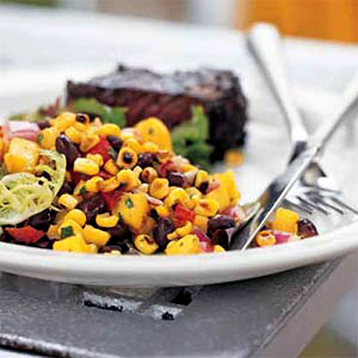 Roasted Corn Black Bean And Mango Salad Healthy Lunch