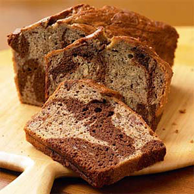 Marbled-Chocolate Banana Bread - Healthy Homemade Bread Recipes ...