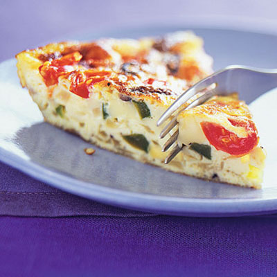 Heirloom Tomato, Ham And Fontina Frittata Recipe — Dishmaps