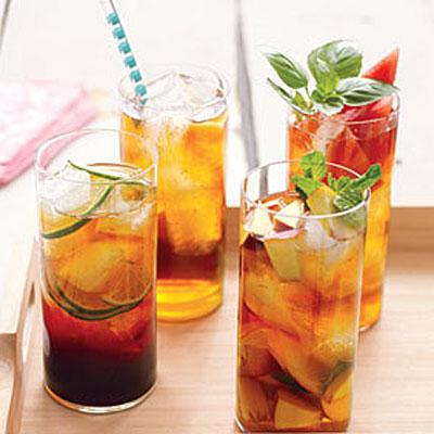Peach and Mint Iced Tea - healthy iced tea recipes - Health.com