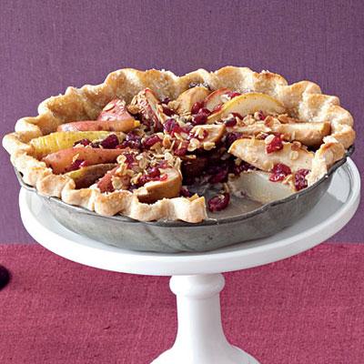 Pear-Cranberry Pie With Granola - Decadent Fruit Desserts - Health.com
