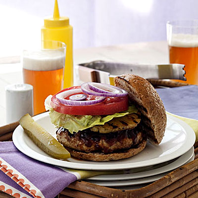 Turkey Burgers With Pineapple-Papaya Sauce - The Best Healthy Burger ...