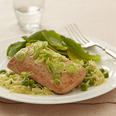 salmon-scallions