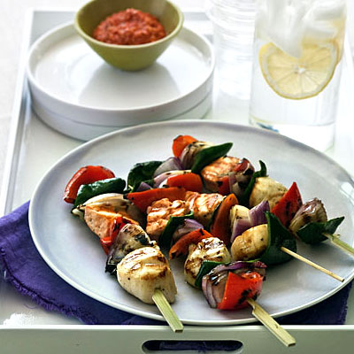 salmon-scallop-skewers
