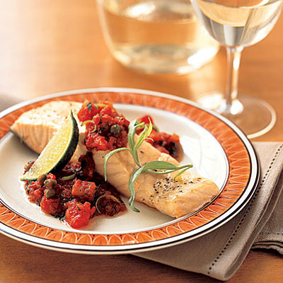 Roast Salmon With Tomato Sauce - 20 Grilled and Baked Salmon Recipes ...