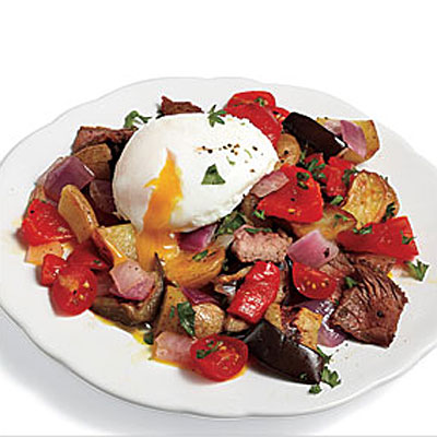 Steak Hash With Poached Eggs - Easy Healthy Eggplant Recipes - Health ...