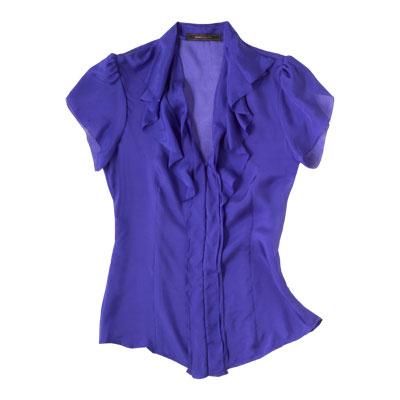 V-neck blouse - Donna Karan's Slimming Style Secrets ...