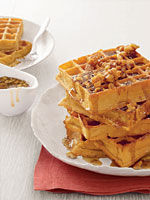 Ultimate (Easy!) Brunch: Pumpkin Waffles With Maple-Walnut Syrup ...