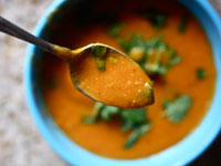 curried butternut 200x150 Healthy Cooking on the Cheap: Easy Fried Chicken, Sweet and Spicy Barbecue Beans, and Red Lentil Soup