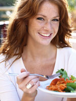 slow down eating 150x200 3 Ways to Eat Slowly (and Lose Weight!)