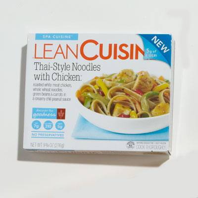 Frozen entree lean cuisine thai style noodles with for Are lean cuisine healthy