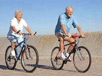 senior-couple-bicycles