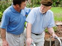 caregiver-senior-walker