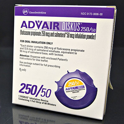 is advair 250 a steroid