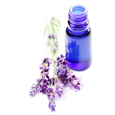 aromatherapy and lavender and blue bottle from istock photo