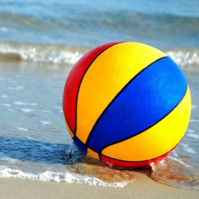 beach ball. each-all-workout
