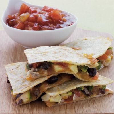 Corn And Black Bean Quesadillas With Roast Zucchini Salsa Recipes ...