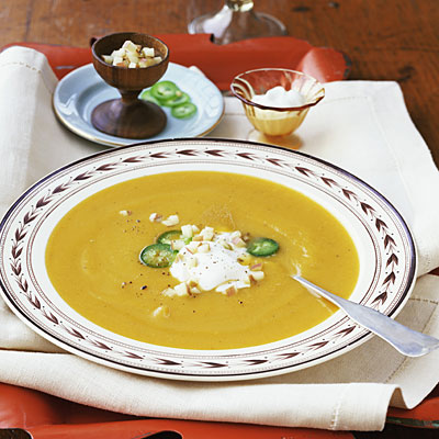 Butternut Squash and Apple Soup - 12 Healthy Soup Recipes - Health.com