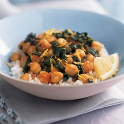 Chickpeas With Spinach - Simple Easy Meals - Quick Meals Recipes ...
