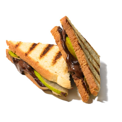 choco hazelnut pear panini 400x400 Making an Important Decision? Grab a Sweet Snack First