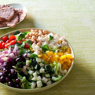 Chopped Greek Salad - The Anti-Bulge Walking Diet Plan - Health.com