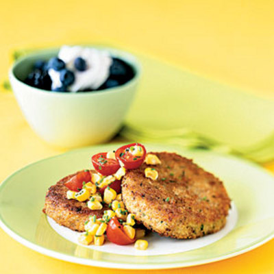 crab cakes crab cake recipes cooking light crab and corn cakes recipe ...