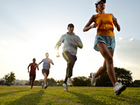 group running together 200x150 Tips to Prevent Running Injuries