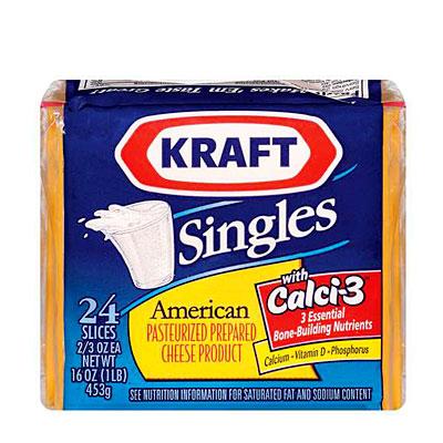 Kraft singles for Cuisine kraft