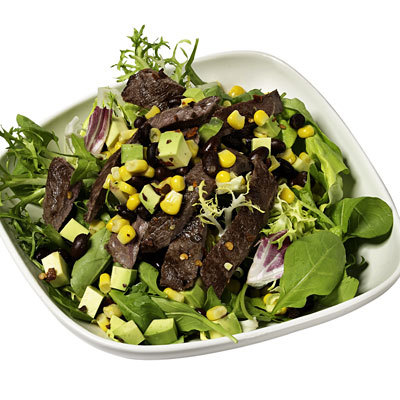 black-bean-steak-avocado-salad