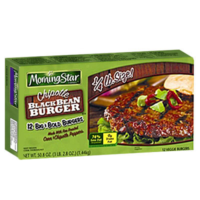 MorningStar Farms Chipotle Black Bean Burger - 25 Surprisingly Salty ...