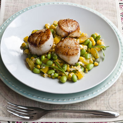 Pan-Seared Scallops With Summer Succotash - 5 Healthy Fish Recipes ...