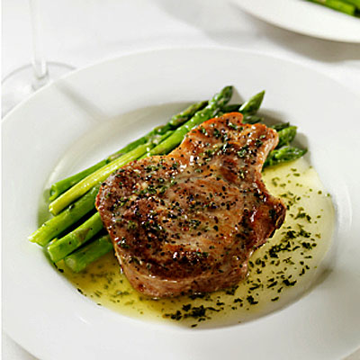Lunch dinner italian grilled pork chop with steamed asparagus and baked potato lose 5 - Choose best pork ...