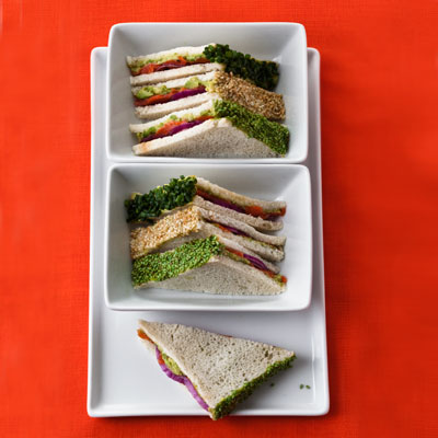 Smoked Salmon-Wasabi Tea Sandwiches - The 'Wich That Wows: 5 Healthy ...