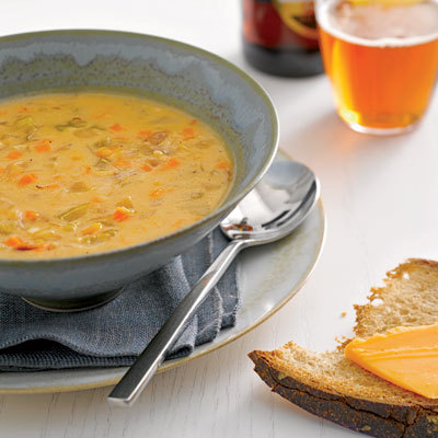 Cheddar-Ale Soup - Healthy, Easy Dinners for Less Than 400 Calories ...