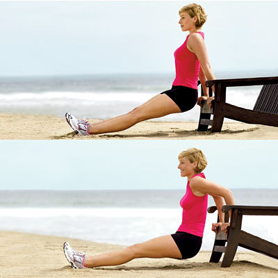 Triceps dip look totally toned in just one month health com