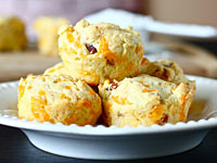 bacon cheese muffins 200x150 Healthy Cooking on the Cheap: Ginger Honey Cashew Chicken, Coconut Curried Sweet Potato Soup, and Bacon and Cheese Muffins