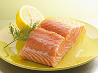 salmon yellow plate 200x150 Healthy Fats May Guard Against Brain Decline