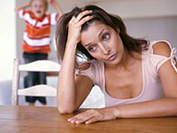 single mom stress 200x150 Single Motherhood Linked to Poor Health Later in Life