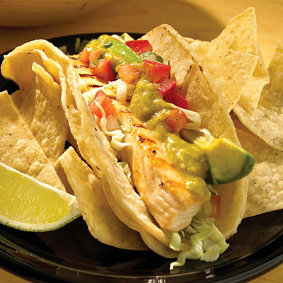 Baja fresh the healthiest options at fast food for Wahoo fish taco recipe
