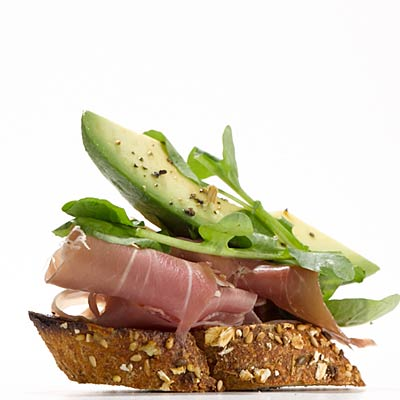 Prosciutto & Avocado Crostini - Recipes for Holiday Drinks and Small ...