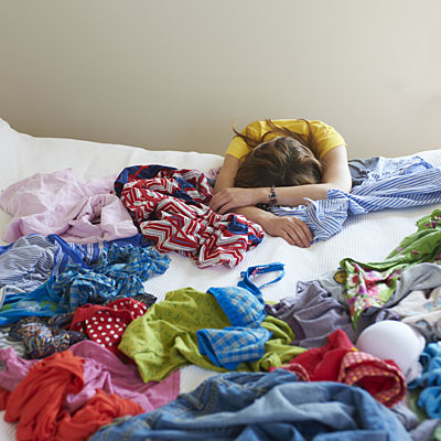 messy clothes 400x400 Less Stuff Equals More Calm? How to De Clutter