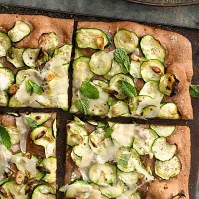 Scallion and Parmesan Pizza - 7 Fresh and Healthy Vegetable Pizza ...