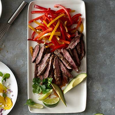Skirt Steak Fajitas With Lime And Black Pepper Recipes — Dishmaps