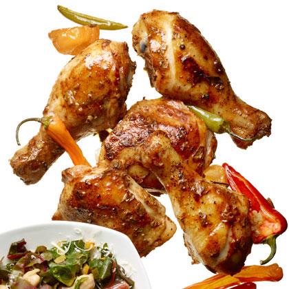 Roast Chicken with Yogurt-Chili Rub Recipe