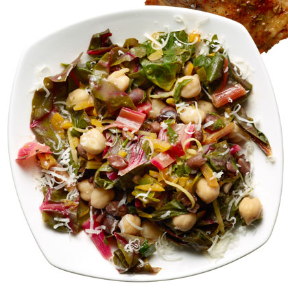Warm Two-Bean Chard Salad Recipe