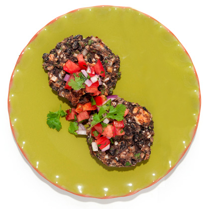 black-bean-cakes-queso Recipe