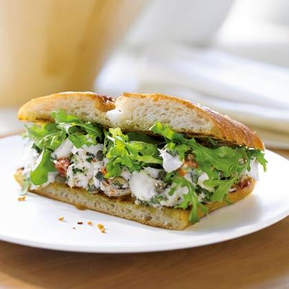 mediterranean-halibut-sandwich Recipe