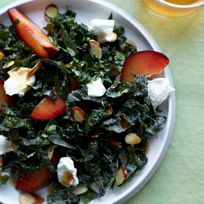 tuscan-kale-with-almonds-plums-and-goat-cheese Recipe