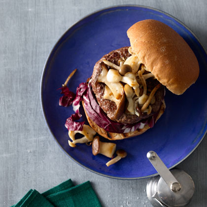Burger-Mushrooms-Radicchio Recipe